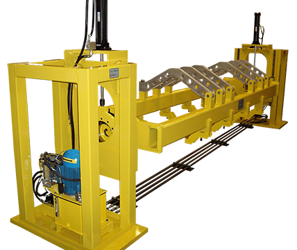Crawler Track Build Stand Fixture Positions Track Frames