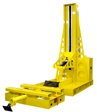 6640 - Custom Rail Mounted Safety Support Dolly with Trailer